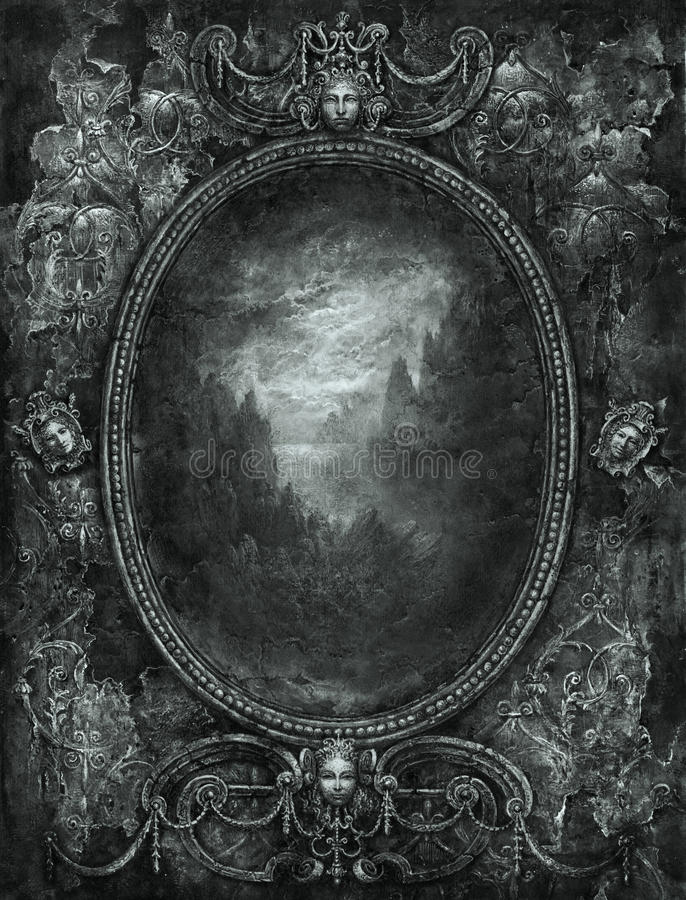 rama barok ilustracji