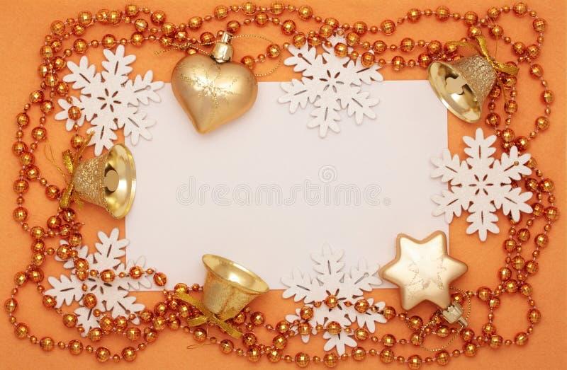 Rama Bożenarodzeniowe dekoracje zdjęcie royalty free