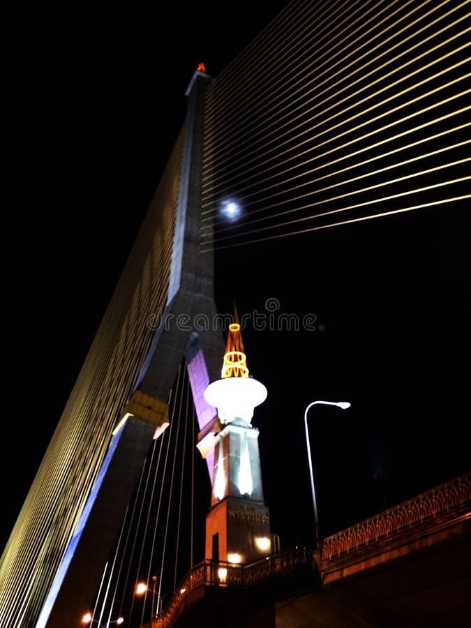 Rama 8 Brücke lizenzfreie stockfotos
