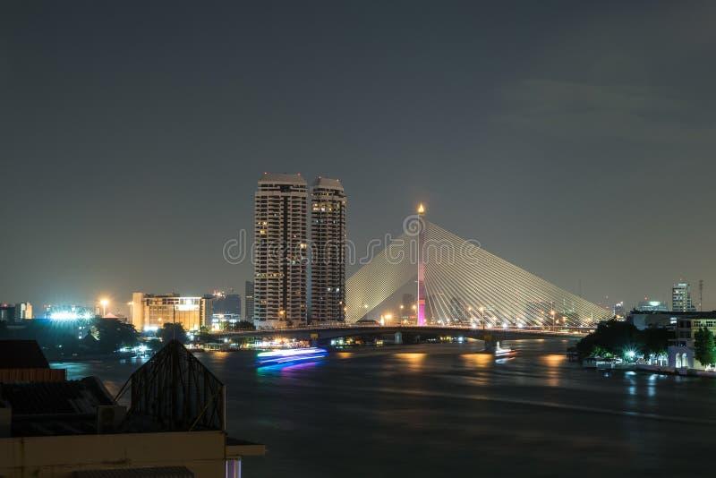 Rama8 bridge bangkok city. Thailand royalty free stock image