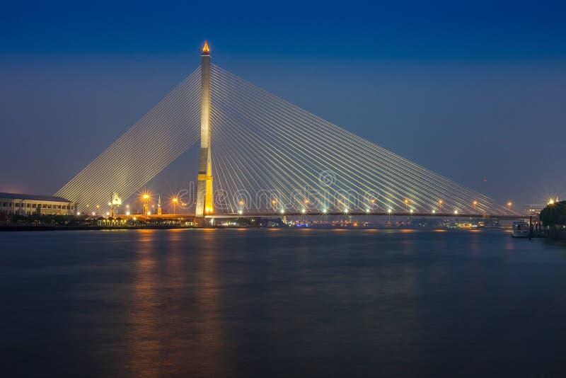 Rama8 bridge. In bangkok Thailand stock photo