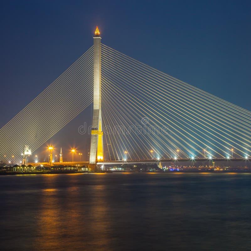 Rama8 bridge. In bangkok, Thailand royalty free stock images