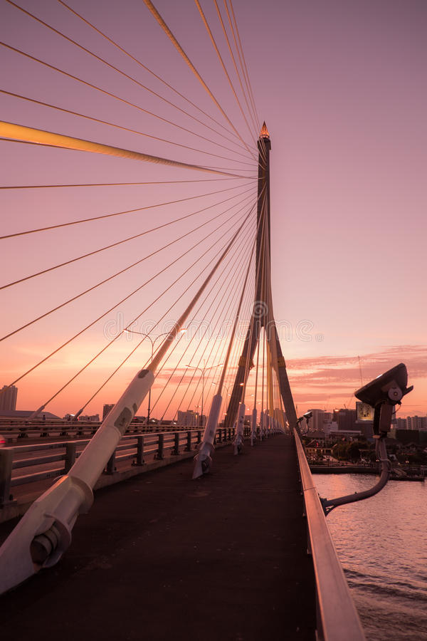 The Rama8 bridge with pastel color. Rama8 bridge with pastel color stock images