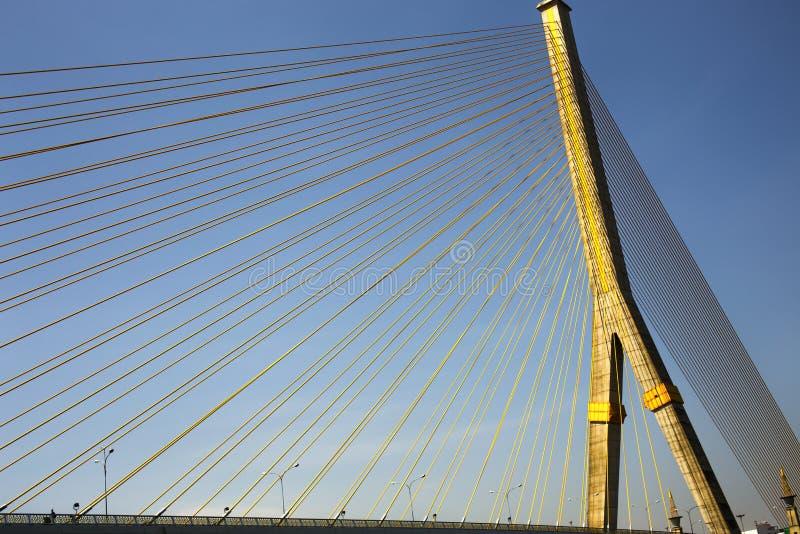 Rama 8 bro på i Bangkok Thailand fotografering för bildbyråer
