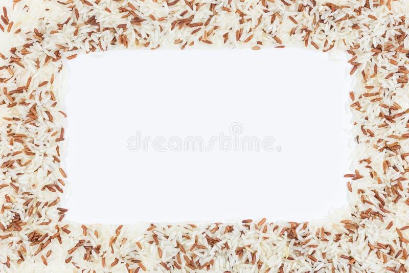 Rama brown ryż zdjęcia stock