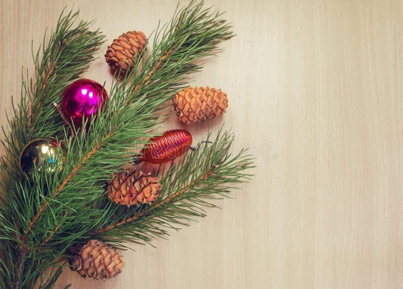 Rama de árbol de navidad imagenes de archivo