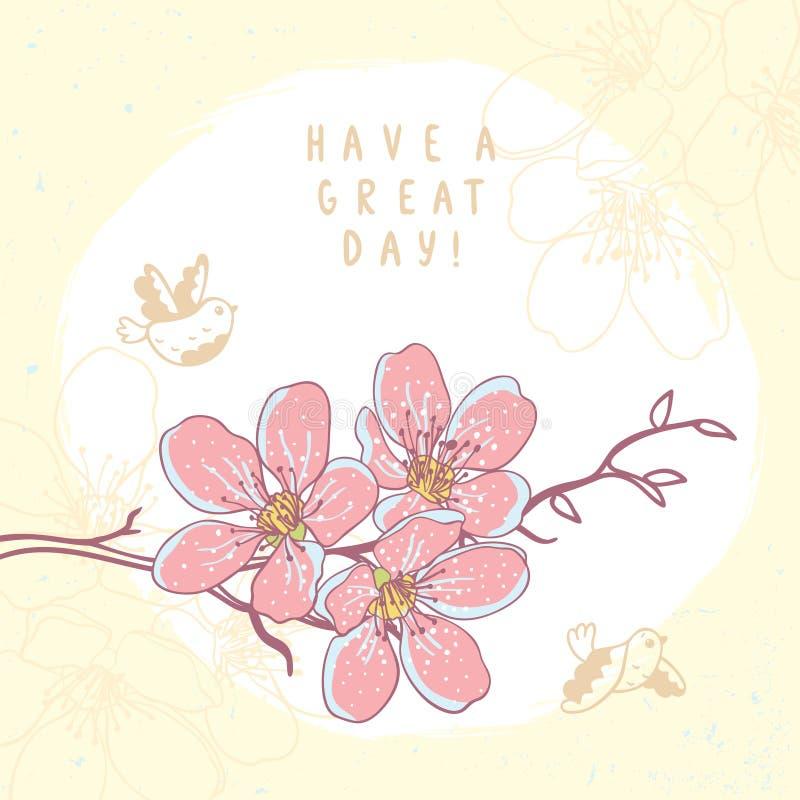 Rama de las flores hermosa libre illustration