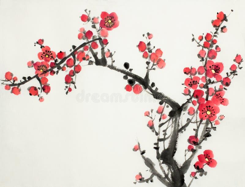 Rama del flor del ciruelo libre illustration