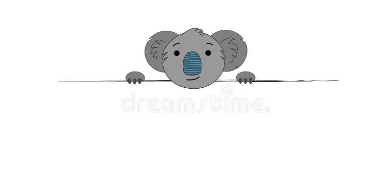 Rama dla teksta z koalą Ilustracja kreskówki koala Sztuki ilustracja z koalą Druki dla koszulek, tkaniny ilustracja wektor