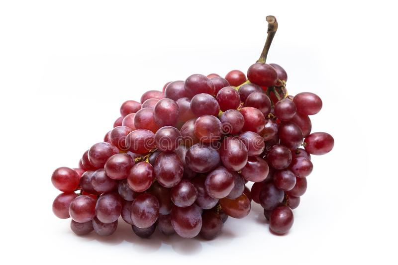 Rama fresca y sana de las uvas sin la hoja fotografía de archivo libre de regalías