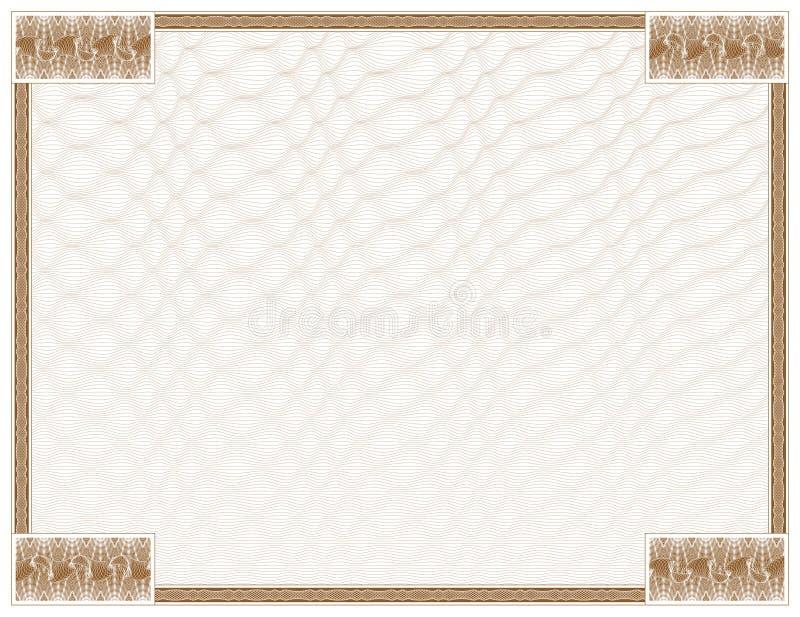 rama guilloche tło ilustracji