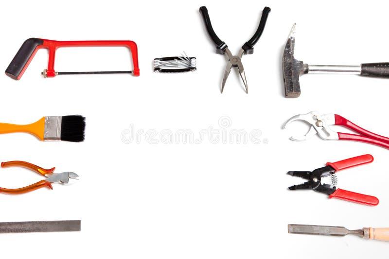 Rama handheld narzędzia i narzędzia zdjęcie stock
