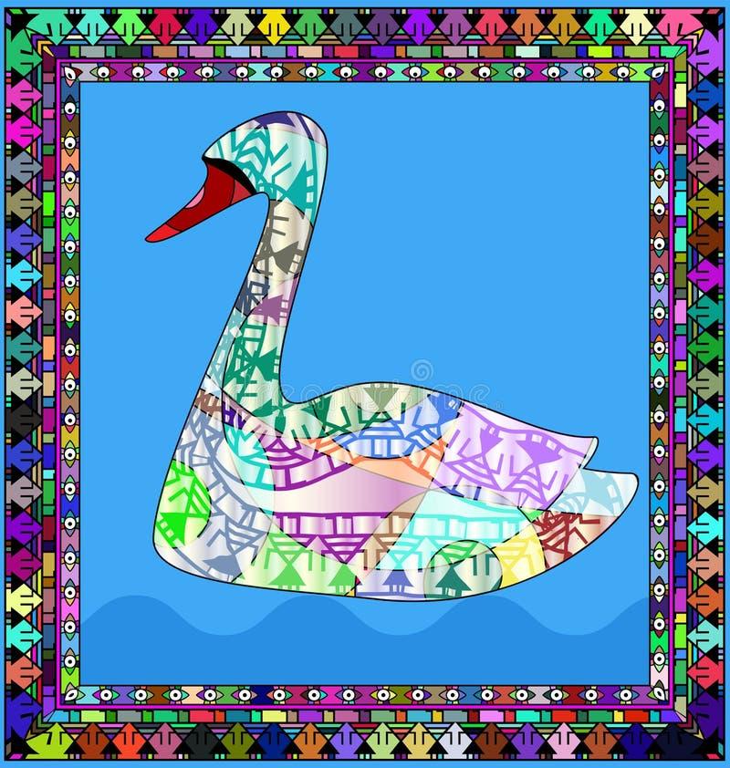 Rama i łabędź ilustracja wektor