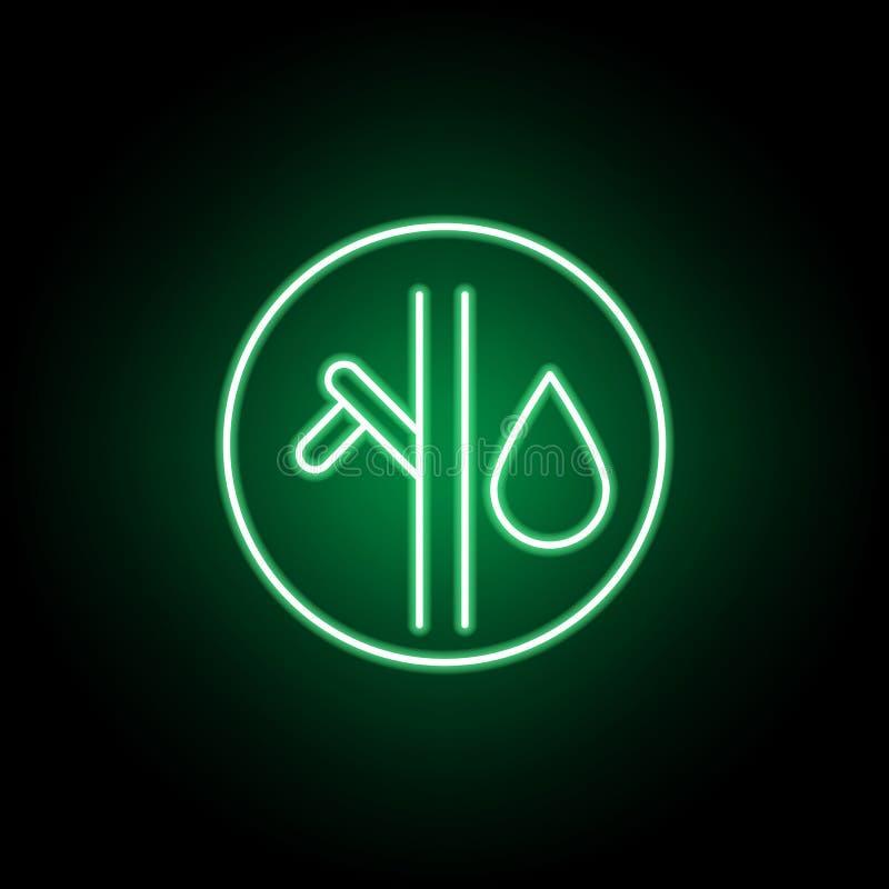 Rama, icono del esquema del aceite en el estilo de neón Puede ser utilizado para la web, logotipo, app m?vil, UI, UX ilustración del vector