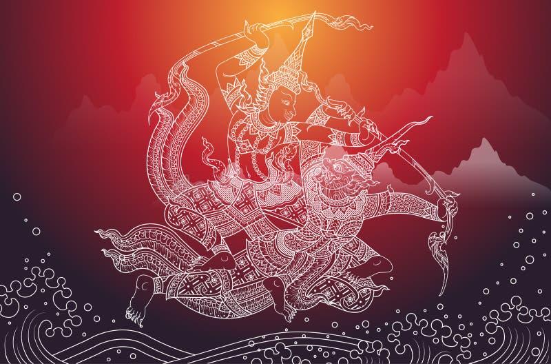 Rama-Kampf ein Riese vektor abbildung