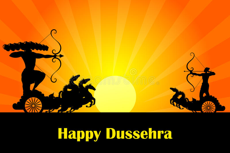 Rama Killing Ravana In Dussehra Royalty Free Stock Photography