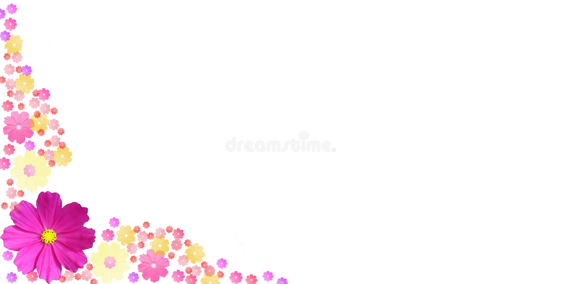 rama kolorów kwiatów ilustracja wektor