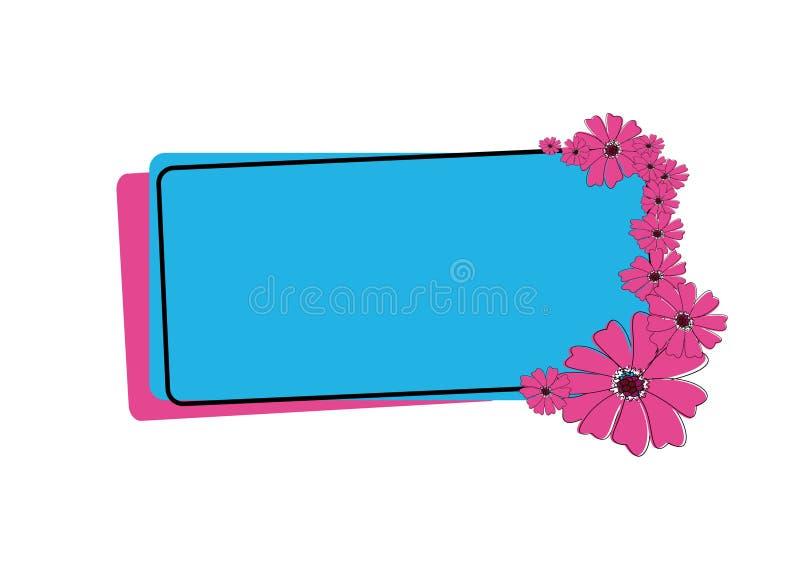 rama kolorów kwiatów ilustracji