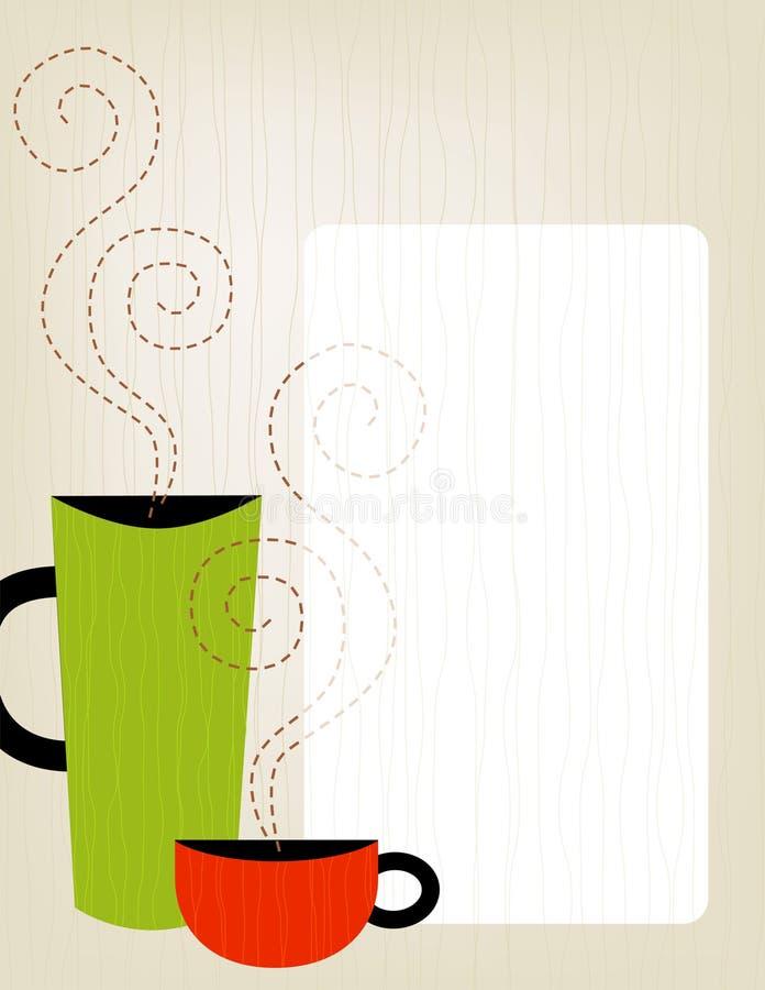 rama kolorowa kawowa royalty ilustracja
