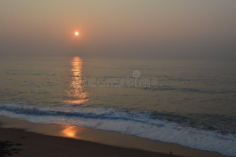 Rama Krishna-Strand, Vizag, Indien lizenzfreie stockfotos