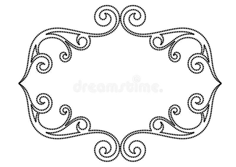 rama kwiecista royalty ilustracja