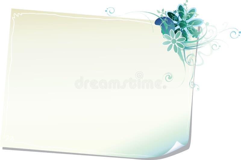 Download Rama kwiecisty papier ilustracja wektor. Obraz złożonej z kwiecisty - 8209688