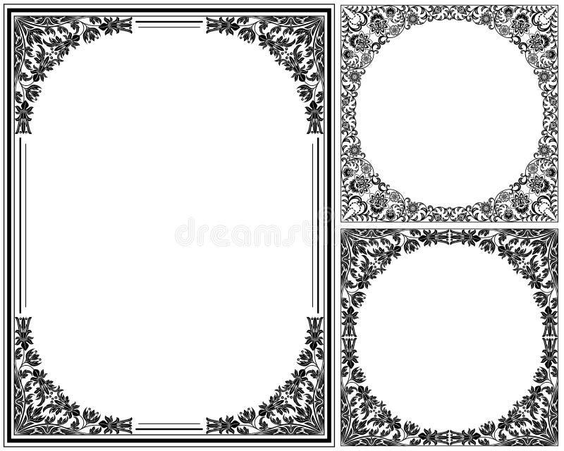 rama kwiecisty rocznik royalty ilustracja