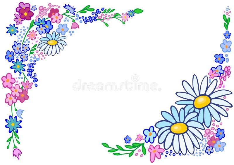 Rama od abstrakcjonistycznych kwiatów royalty ilustracja