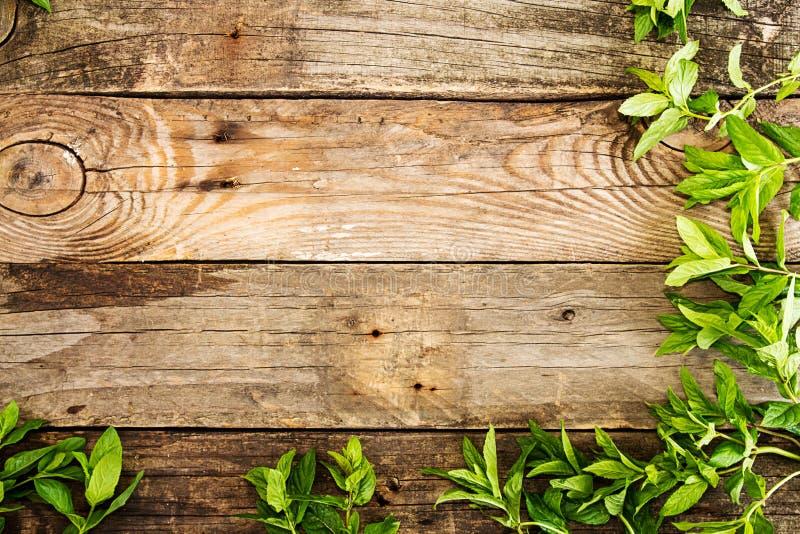Rama od mennicy na starym drewnianym tle Wieśniaka styl policjant fotografia stock