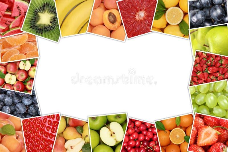 Rama od owoc lubi jabłka, pomarańcze, cytryna z copyspace zdjęcia royalty free