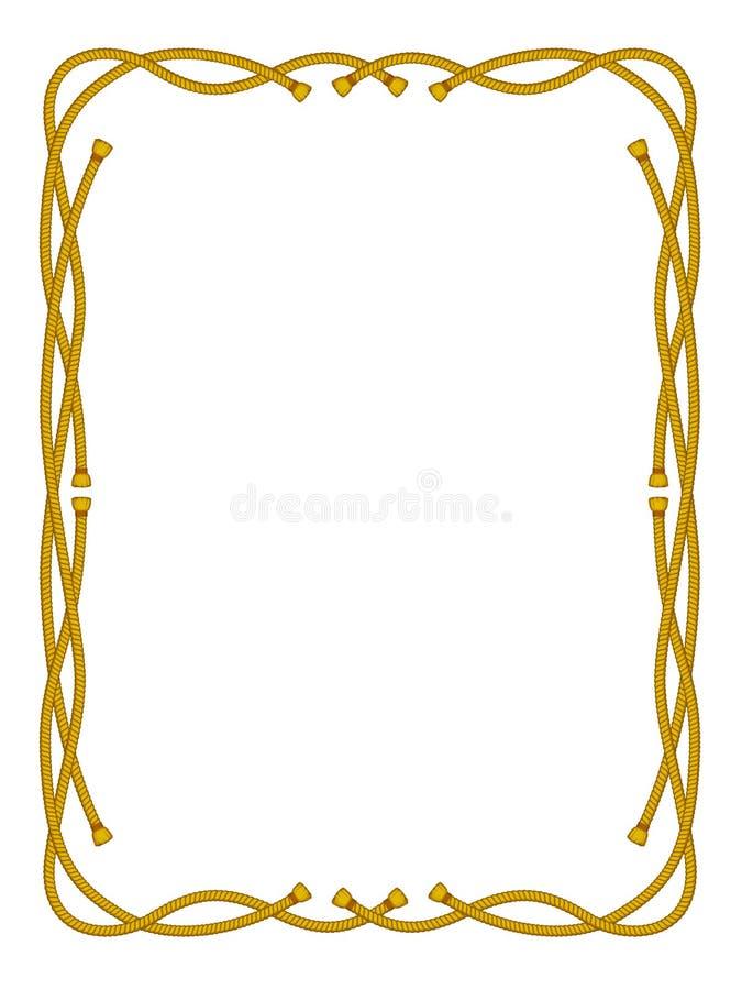 rama odizolowywający linowy biel royalty ilustracja