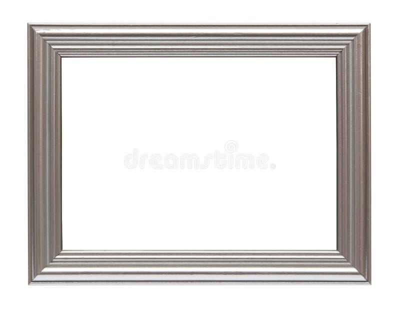 rama odizolowywający srebny biel zdjęcia royalty free