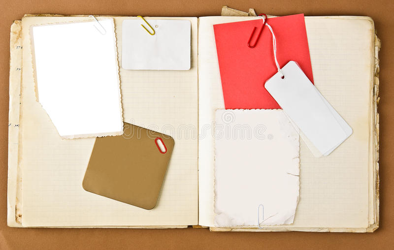 rama przylepiać etykietkę notatnika stara fotografia zdjęcie stock