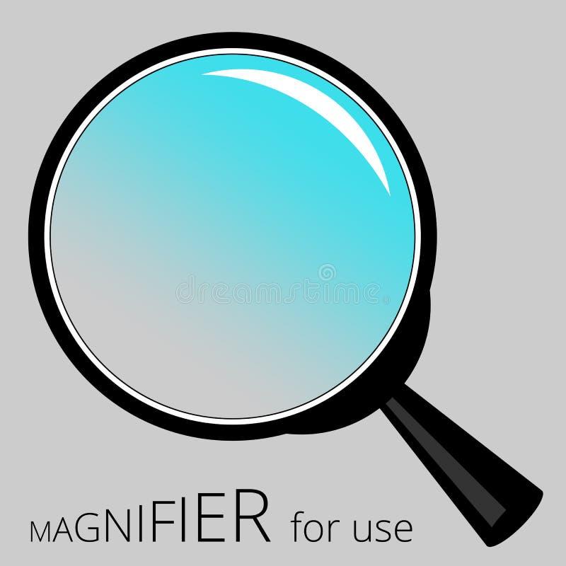 Rama składać się z magnifier dla kreatywnie use zdjęcie stock