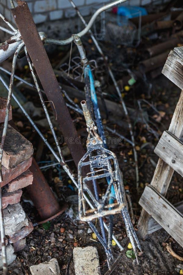 Rama stary Radziecki bicykl fotografia royalty free