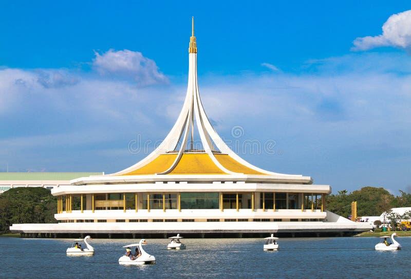 9 rama suanluang Suanluang Rama IX公园和最大的植物园在曼谷 泰国 免版税图库摄影