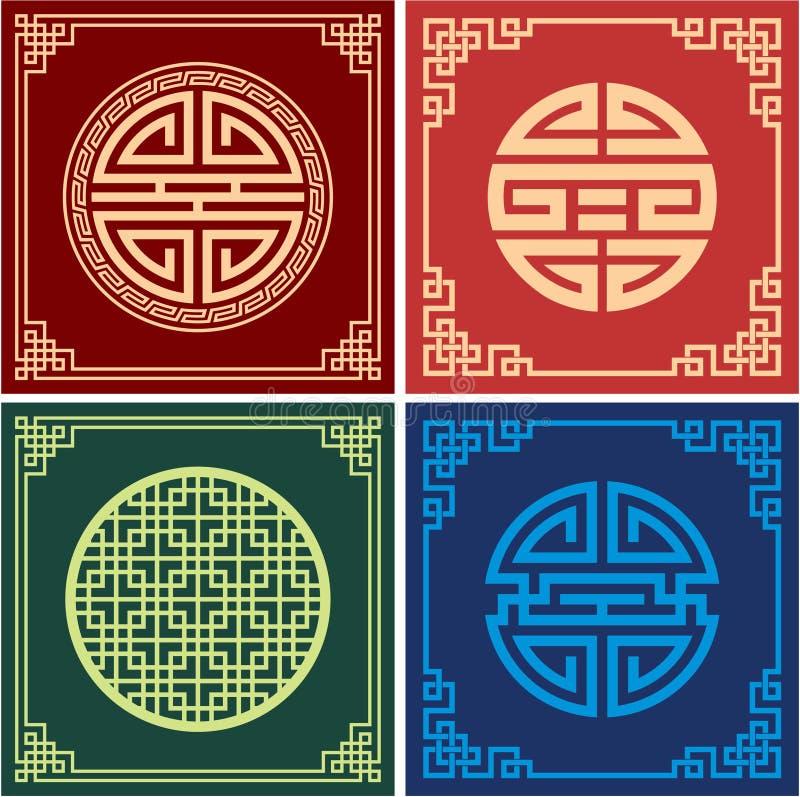 rama supła setu orientalnego wektor royalty ilustracja