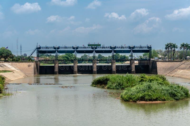 Rama VI Dam of Paasak River royalty free stock photography