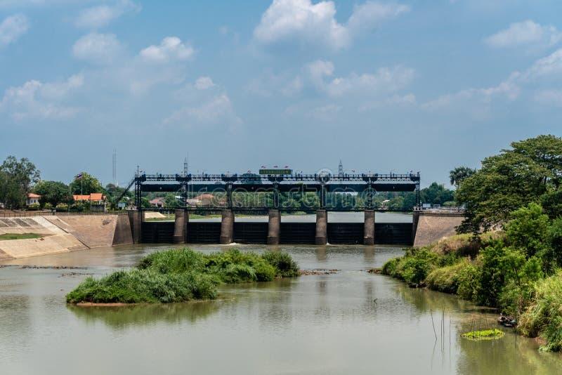 Rama VI Dam of Paasak River royalty free stock images