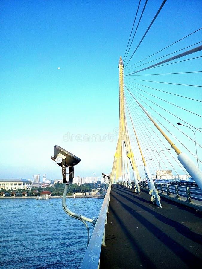 Rama VIII桥梁在曼谷,泰国 库存图片