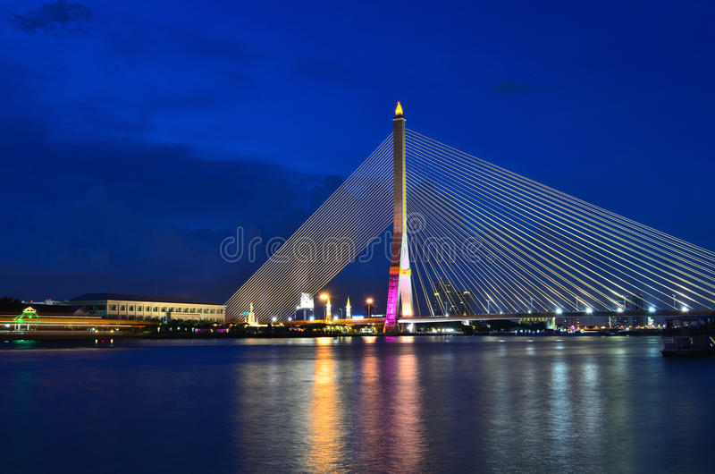 rama VIII моста стоковая фотография