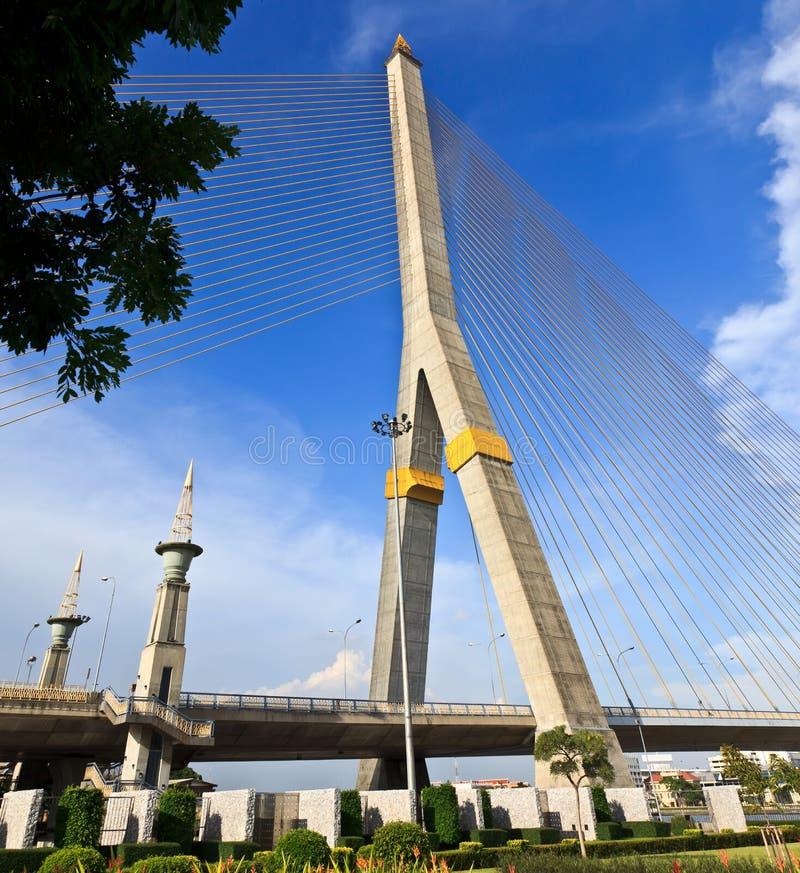 Rama VIII bridge in Bangkok royalty free stock images