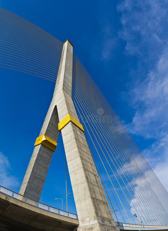Rama VIII bridge in Bangkok stock photography
