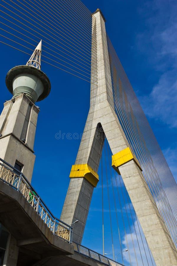 Rama VIII bridge in Bangkok stock images