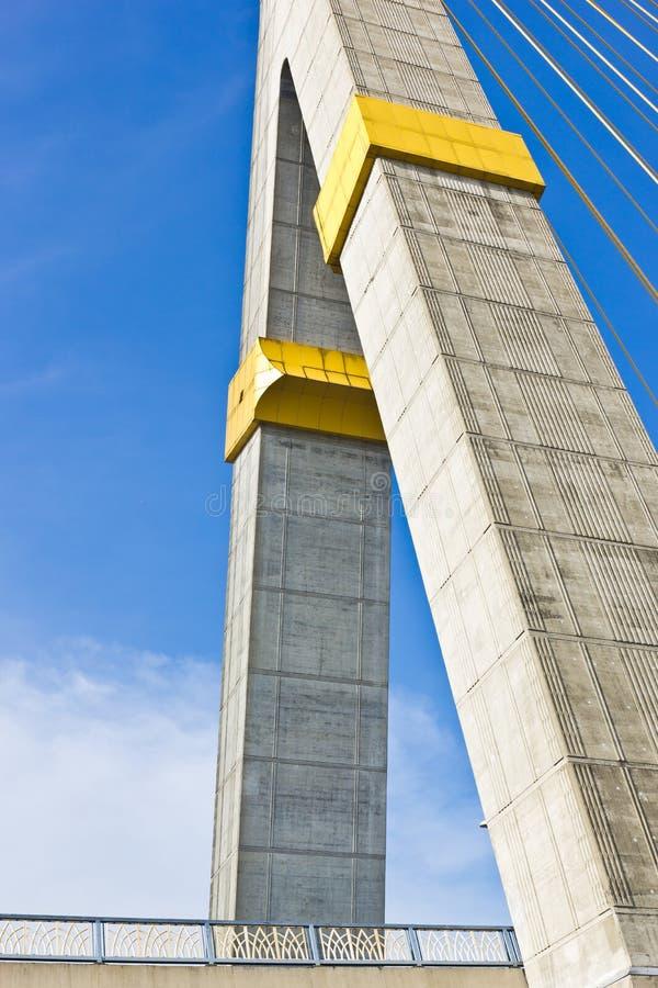 Rama VIII bridge in Bangkok stock photo