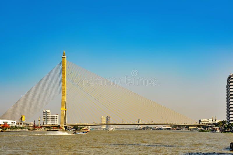 Rama VIII Bridge in Bangkok royalty free stock photography