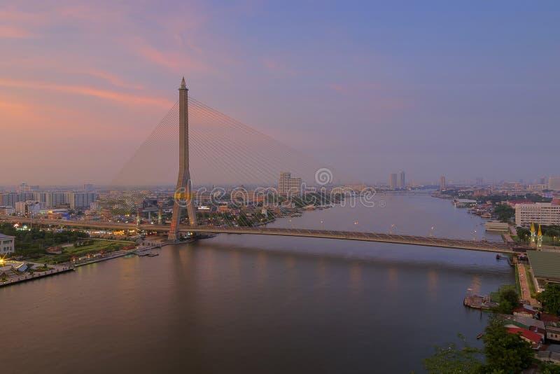 Rama VIII Brug stock foto's