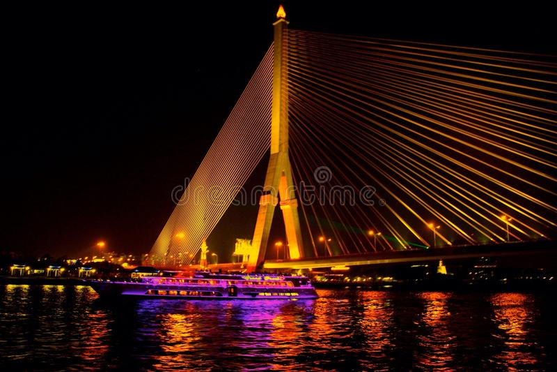 Rama VIII Brug stock foto