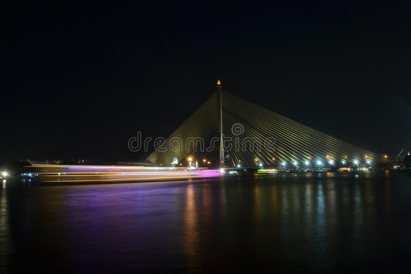 rama viii de passerelle bangkok thailand photographie stock