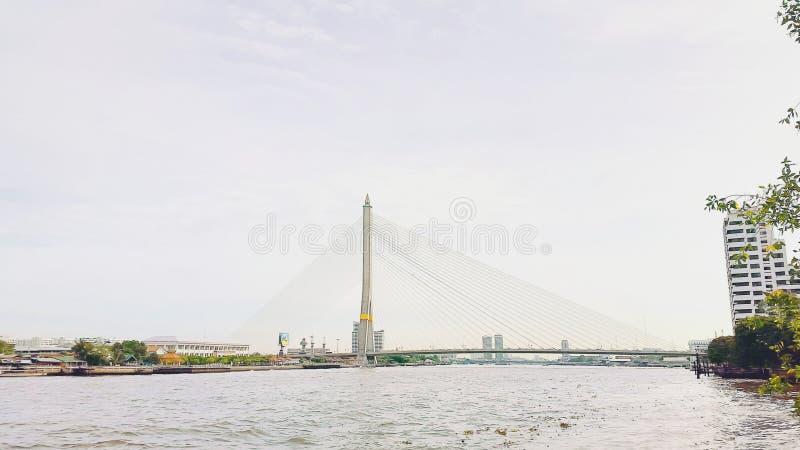 Rama Vlll Bridge photos libres de droits